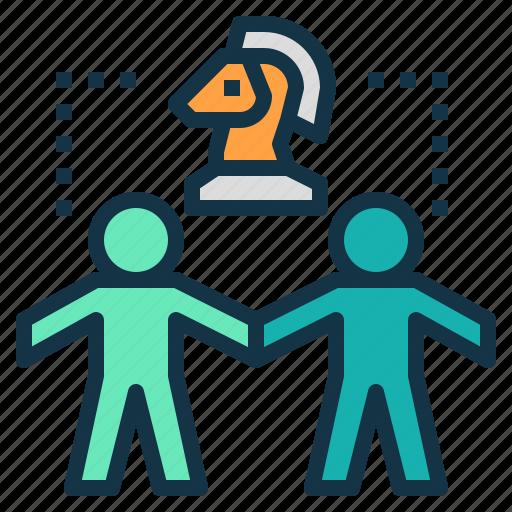 agree, alliances, chess, parties, partnership, strategic icon