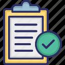 checklist, doc, document, index, report icon