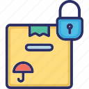 package, protected box, secure shipping, shipping icon