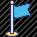 banner, flag, location flag, point flag, waving flag icon
