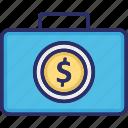 bag, briefcase, case, office, office bag icon