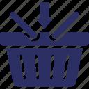 add shopping, add sign, add to basket, basket, shopping basket icon