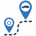 gps, location, navigation, pins, travel icon