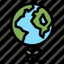 eco, ecology, globe icon