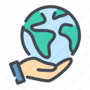 care, earth, globe, hand, hold, planet, world