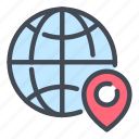 globe, world, internet, network, location, navigation