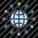 globe, world, internet, network, connection, online, web