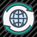 globe, world, internet, network, change, update