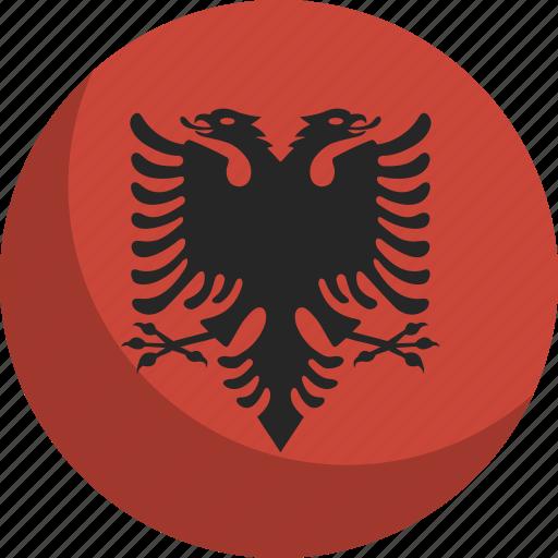albania, country, flag, nation icon