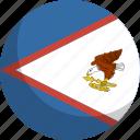 american, country, flag, nation, samoa icon
