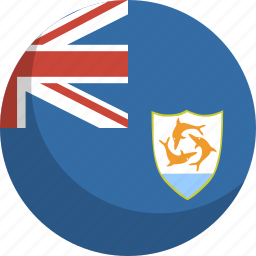 anguilla, country, flag, nation icon