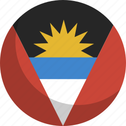 and, antigua, barbuda, country, flag, nation icon