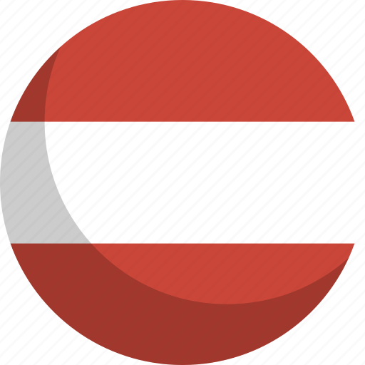 austria, country, flag, nation icon
