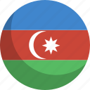 azerbaijan, country, flag, nation