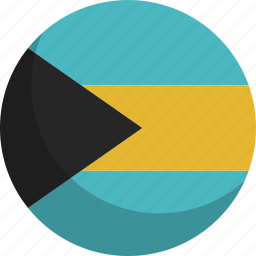 bahamas, country, flag, nation icon