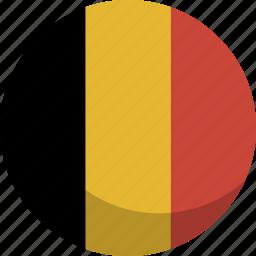 belgium, country, flag, nation icon