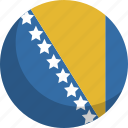 and, bosnia, country, flag, herzegovina, nation icon