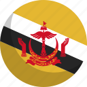 brunei, country, flag, nation
