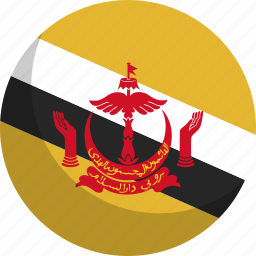 brunei, country, flag, nation icon