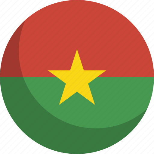 burkina, country, faso, flag, nation icon