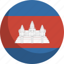country, flag, cambodia, nation