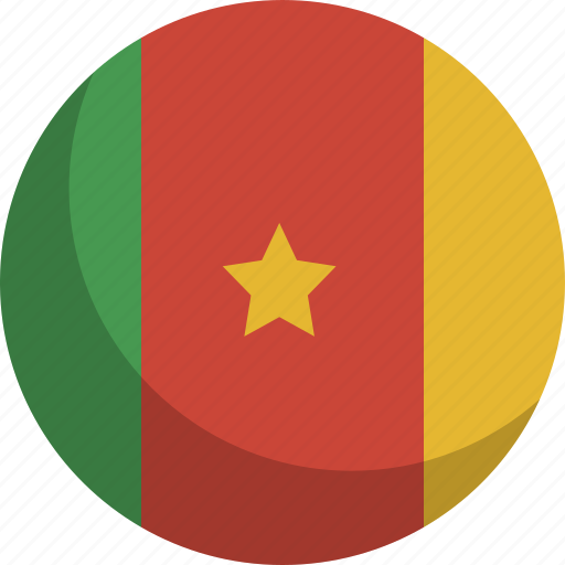 cameroon, country, flag, nation icon