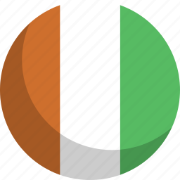 cote, country, divoire, flag, nation icon