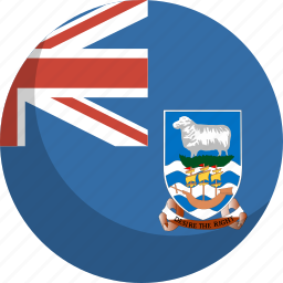 country, falkland, flag, islands, nation icon