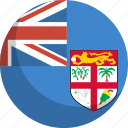 country, fiji, flag, nation icon