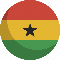 country, flag, ghana, nation icon