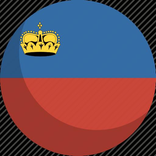 country, flag, liechtenstein, nation icon