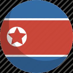 country, flag, korea, nation, north icon