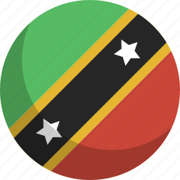 and, country, flag, kitts, nation, nevis, saint icon