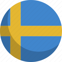 country, flag, nation, sweden icon