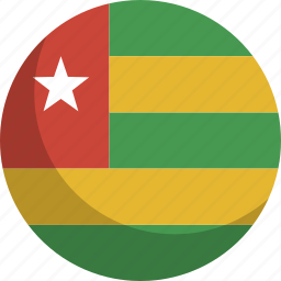 country, flag, nation, togo icon