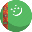 country, flag, nation, turkmenistan icon