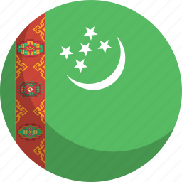 country, flag, nation, turkmenistan icon