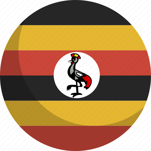 country, flag, nation, uganda icon