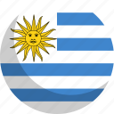 country, flag, nation, uruguay icon
