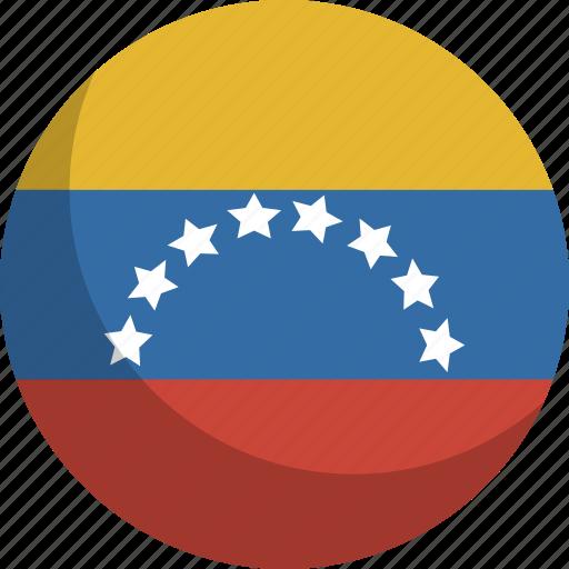country, flag, nation, venezuela icon