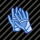 baseball gloves, garment, gloves, mittens, racketball gloves, sports gloves icon