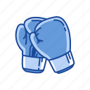 boxing gloves, cushioned gloves, gloves, mittens, sports gear, sports gloves icon