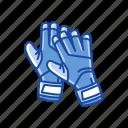 gloves, goalie gloves, goalkeeper gloves, sport gloves, sports gear icon