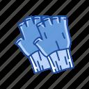 clothing, cotton gloves, fingerless gloves, gloves, hobos gloves, mittens, winter gloves icon