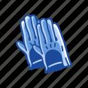 dish washing gloves, gloves, leather gloves, mittens, rubber gloves, works gloves