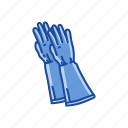 cleaning gloves, garment, gloves, latex glove, medical glove, mittens, rubber gloves icon