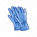 clothing, garment, gloves, latex glove, mittens, rubber glove icon