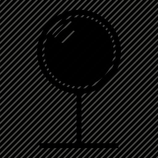 convex, mirror, safety, traffic icon