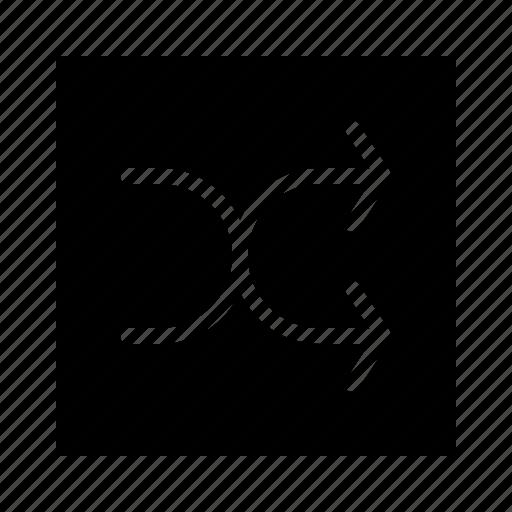 audio, interface, media, music, player, random icon