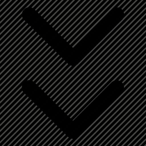 arrows, basic, bottom, down, r icon
